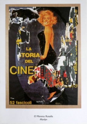 Mimmo Rotella: Marilyn